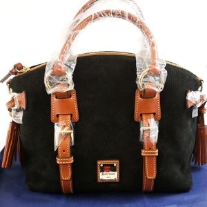 NWT- Dooney & Bourke Nubuck Bristol Satchel- Black